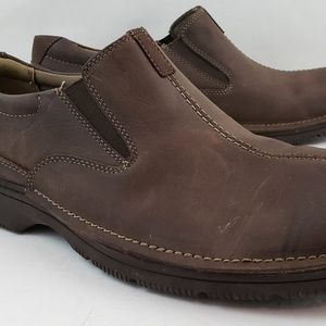 Clarks men's Brown Leather Loafer size 11.5M